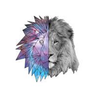 Geometric Galaxy Lion