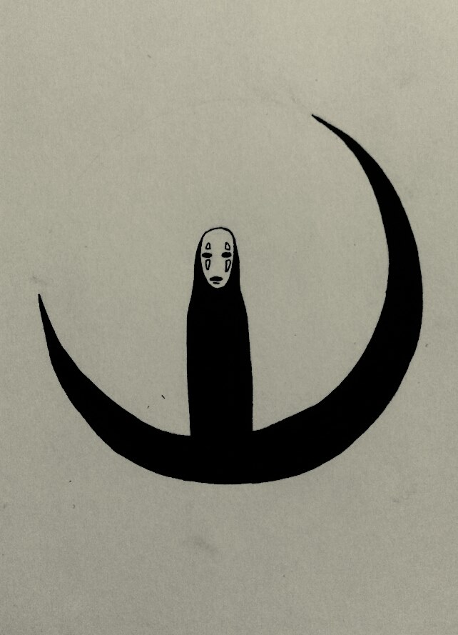 how to draw a crescent moon with a face