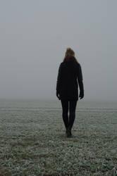 Woman in the fog STOCK by Szafulski