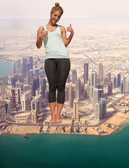 Giantess Yoga Girl in Quatar by ilikemercs