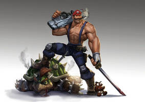 violence Mario by MTORANGE