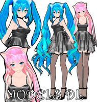 [MMD]TDA LUKA AND MIKU DL by AgathoGrave