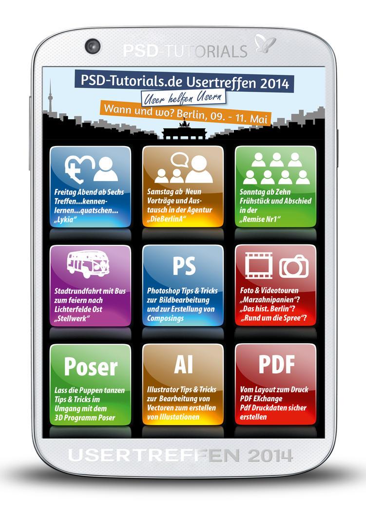 Plakat PSD-Tutorials Usertreffen 2014 by liselotteBerlin