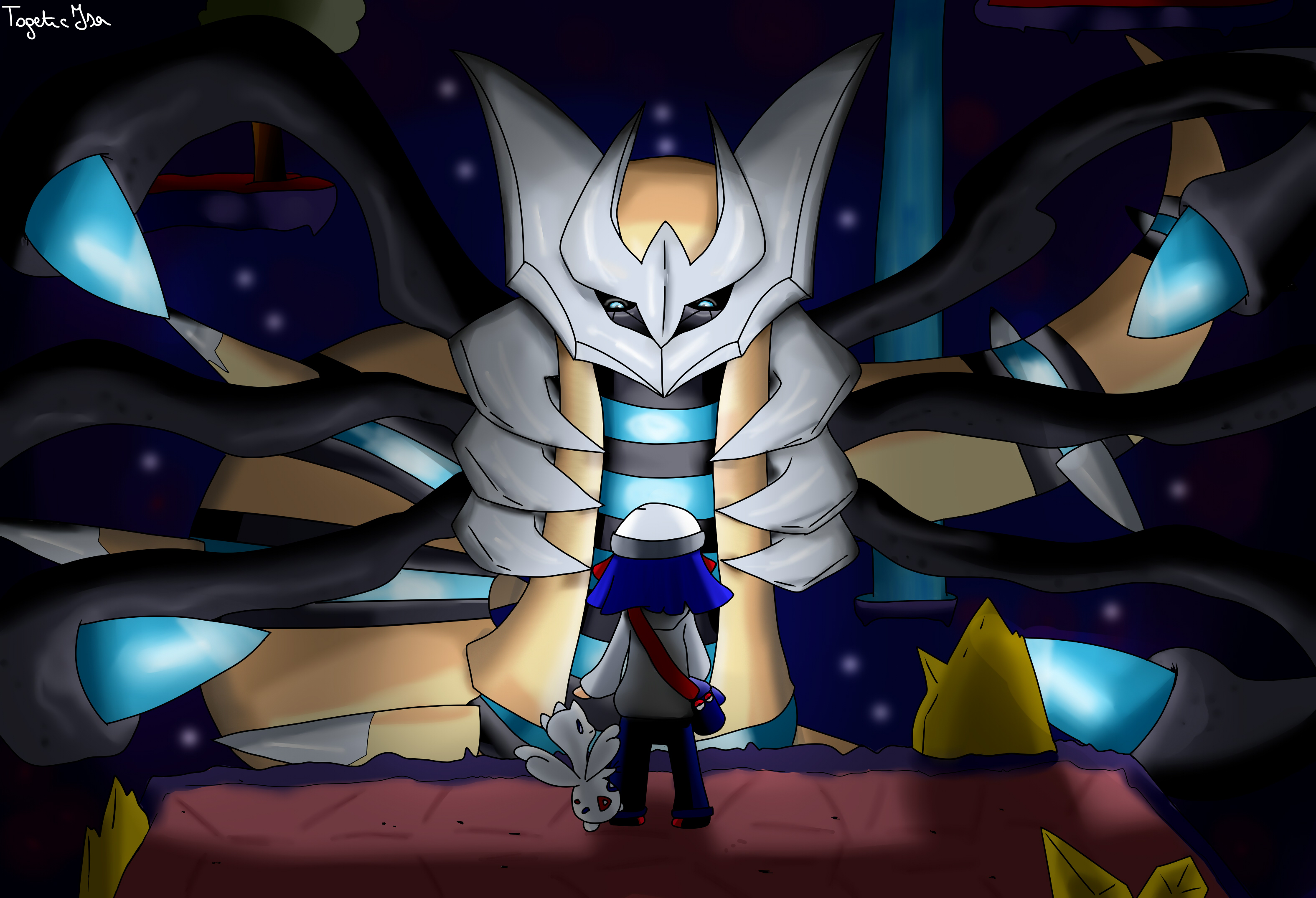 Giratina Shiny by TogeticIsa on DeviantArt Shiny Giratina Altered Form