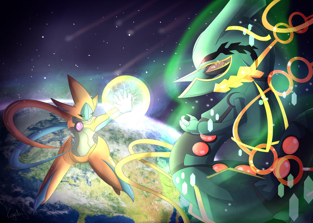 Deoxys Vs Mega Rayquaza By Togeticisa On Deviantart