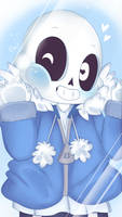 Undertale Smartphone Wallpaper - Chibi Sans by TogeticIsa