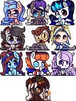 P.C. Pixel icons by TogeticIsa