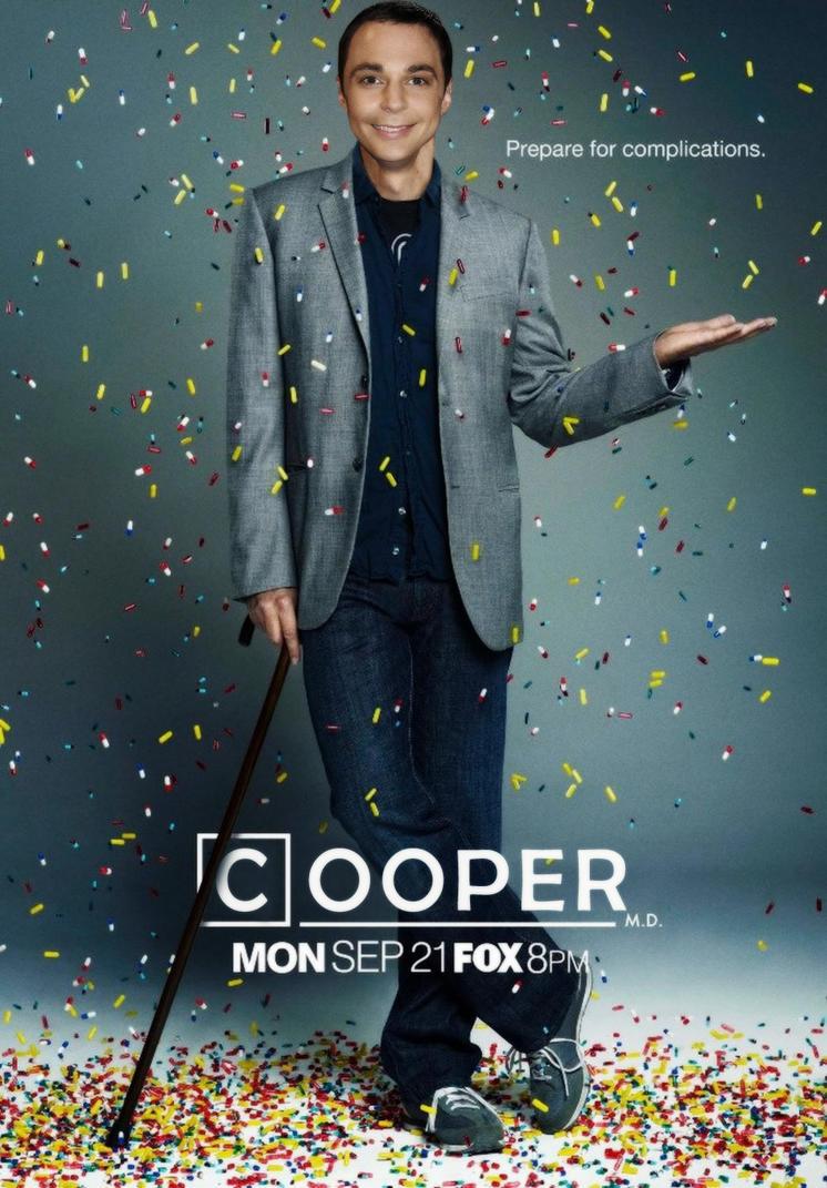 Sheldon Cooper as Dr. House by CatDigitalArt