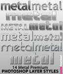 Metal Text Effect Styles