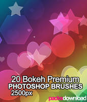 20 Bokeh Mix Premium Brushes by Packsdownload