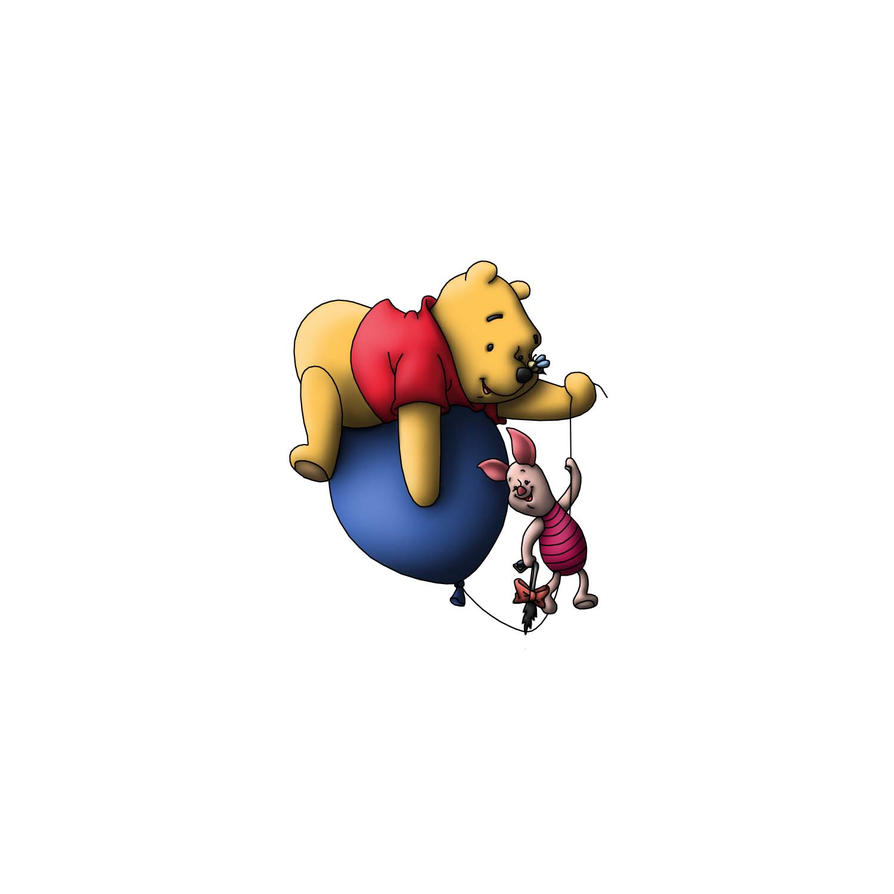 Pooh and Piglet by BeardBeyond