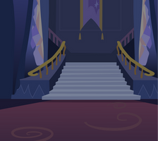 Twilight's castle background by moonwhisperderpy