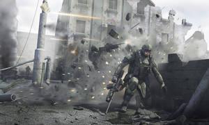 Infantryman scene by iRj