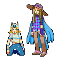 gyro and johnny sprites by alalampone