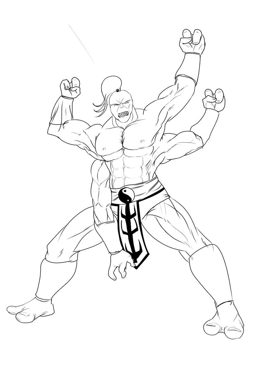 Goro Mortal Kombat Coloring Pages Coloring Pages