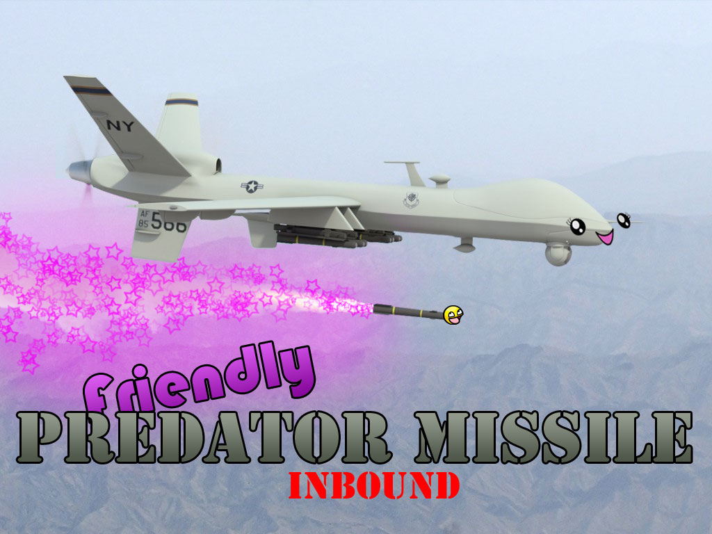 Friendly PREDATOR MISSILE by adrak