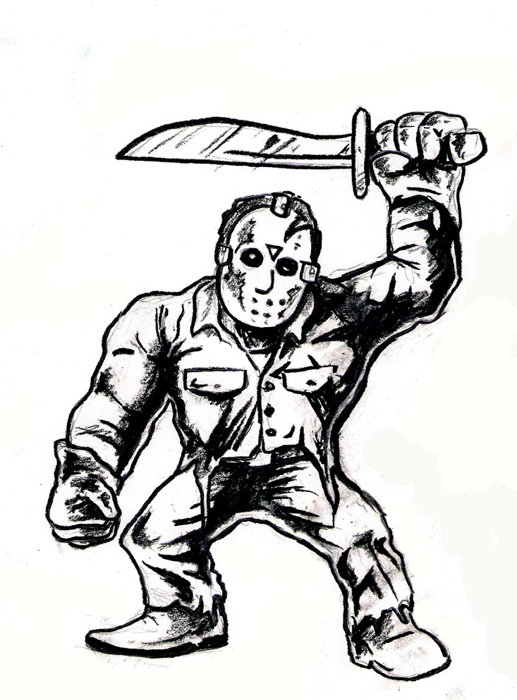 Jason Voorhees Freddy Coloring Coloring Pages