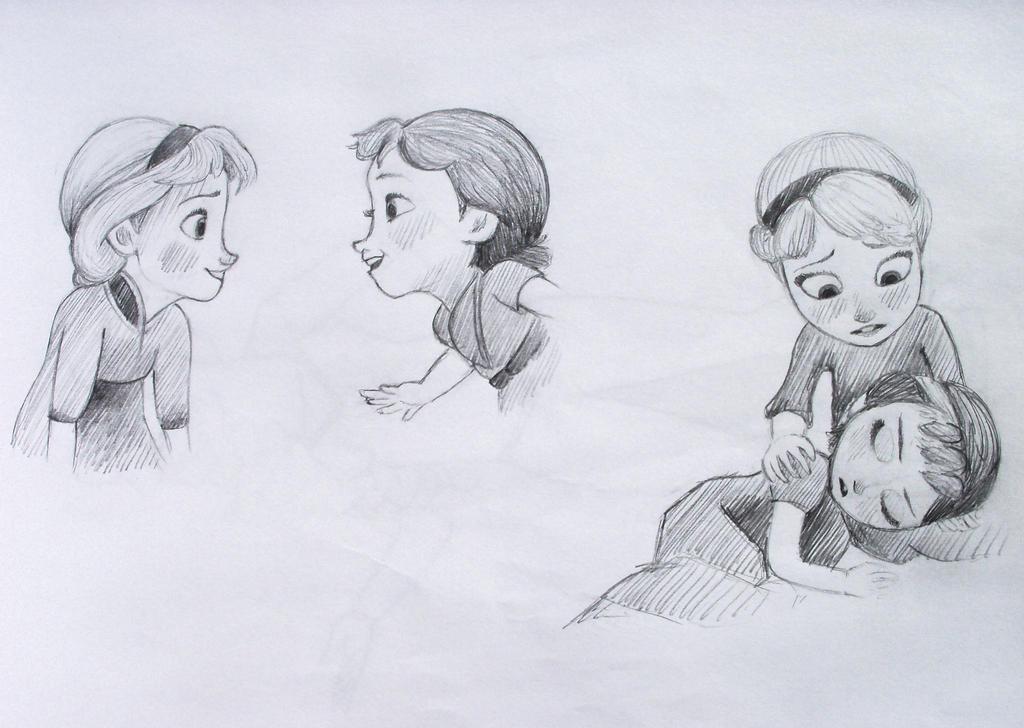 Anna and elsa drawings