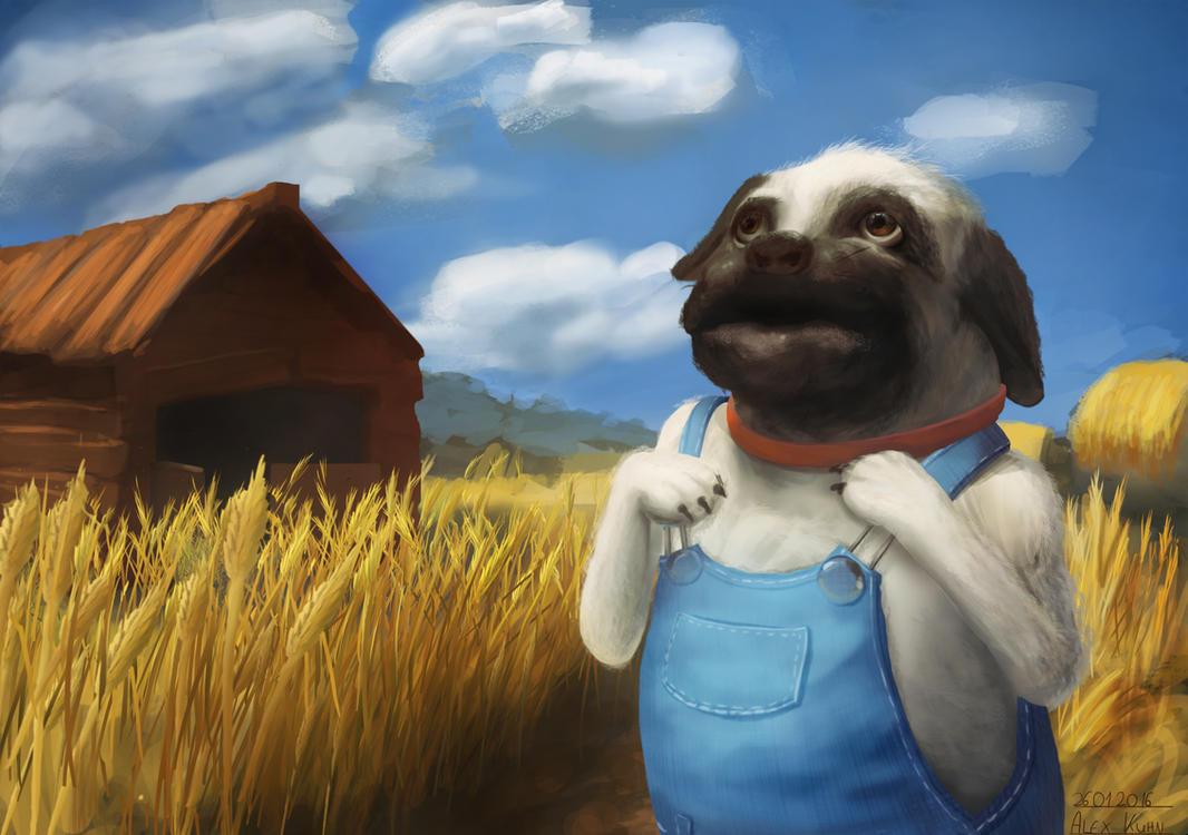 Farmer-Pug by AlexKuhn