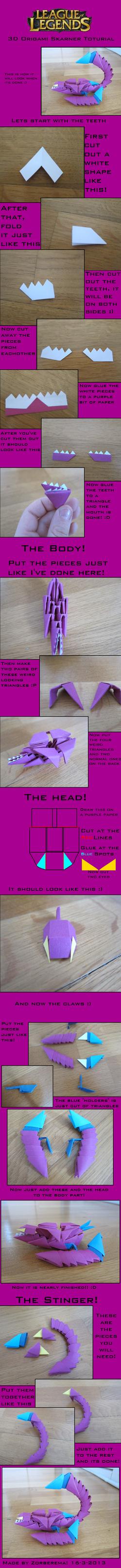 TUTORIAL - 3D origami Skarner by zorberema