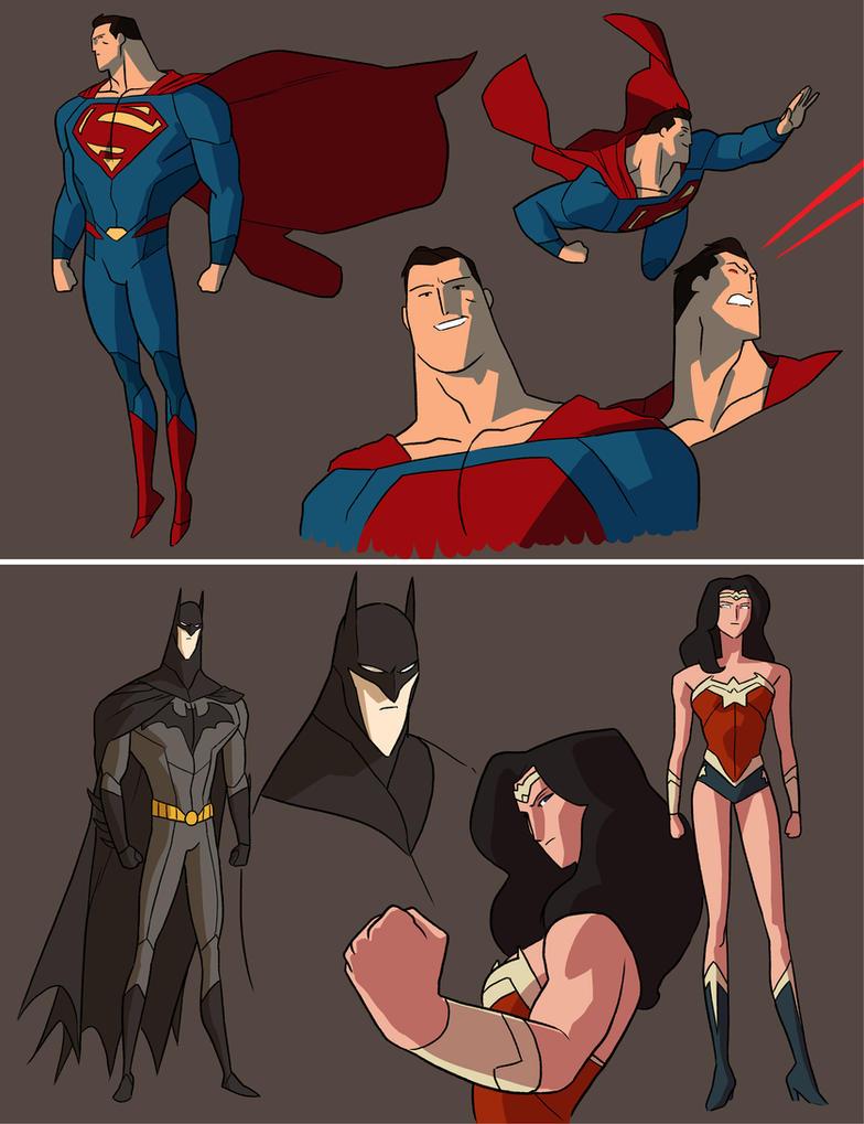DC Trinity - Animated by anklesnsocks