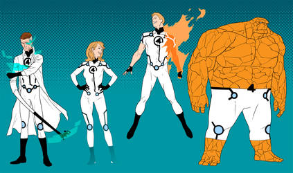 Project : Rooftop - Fantastic Four redesign