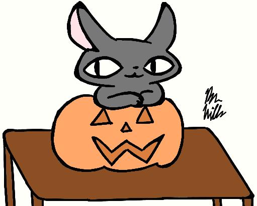 31 Days of Halloween Day 10: Pumpkin Cat by Benjamillion