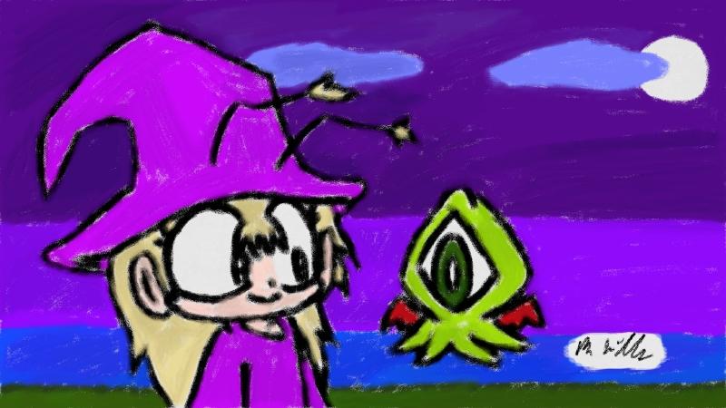 Art Academy Sketchpad - Gilda Halloween 2014 by Benjamillion
