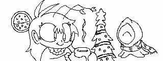 Miiverse drawing - Yuletide martians by Benjamillion