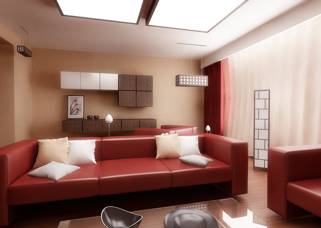 red leather livingroom2 by papershiver
