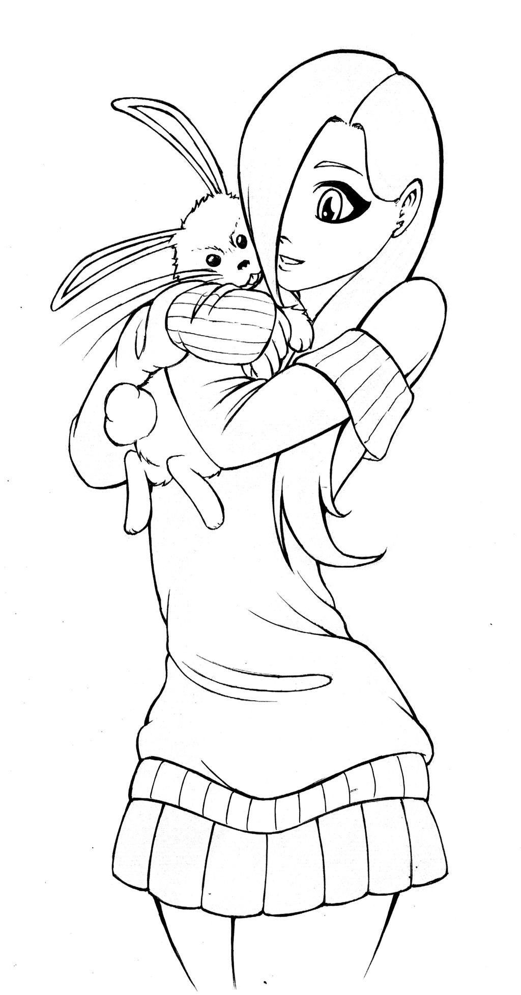 Line Drawing Angel : Fluttershy and angel line art by arucardpl on deviantart