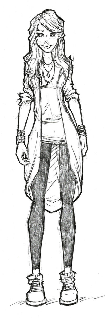 Janet Concept Sketch by ArucardPL