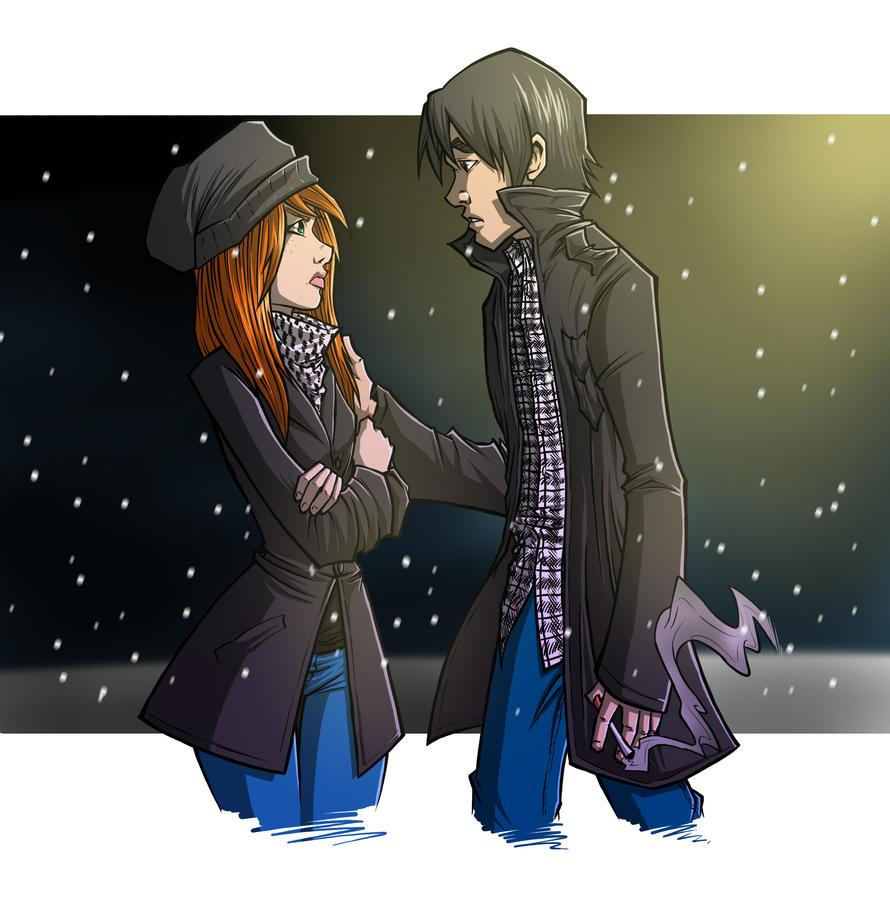 Lindsay and Eli by ArucardPL