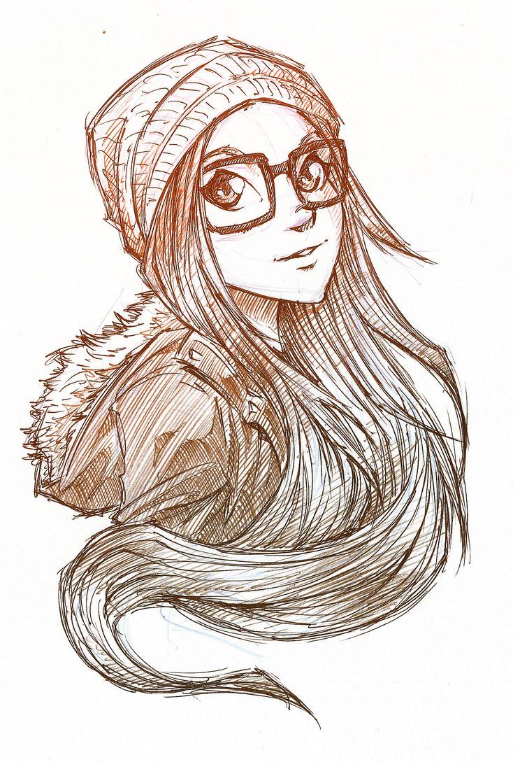 Hipster Girl By Arucardpl On Deviantart