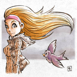 A Girl and a Bird