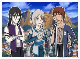Manda, Katsuyu and Gamabunta by PandorasJukebox