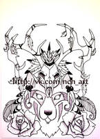 wolf shaman by NatkaCH
