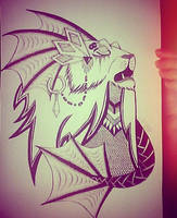 water lion by NatkaCH