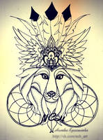 crowned wolf by NatkaCH