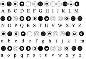 Gallifreyan Alphabet by ArtByBoredom