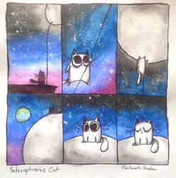 Schizophrenic Cat: Morbid Curiosity Final Part by Clockwork--Raven