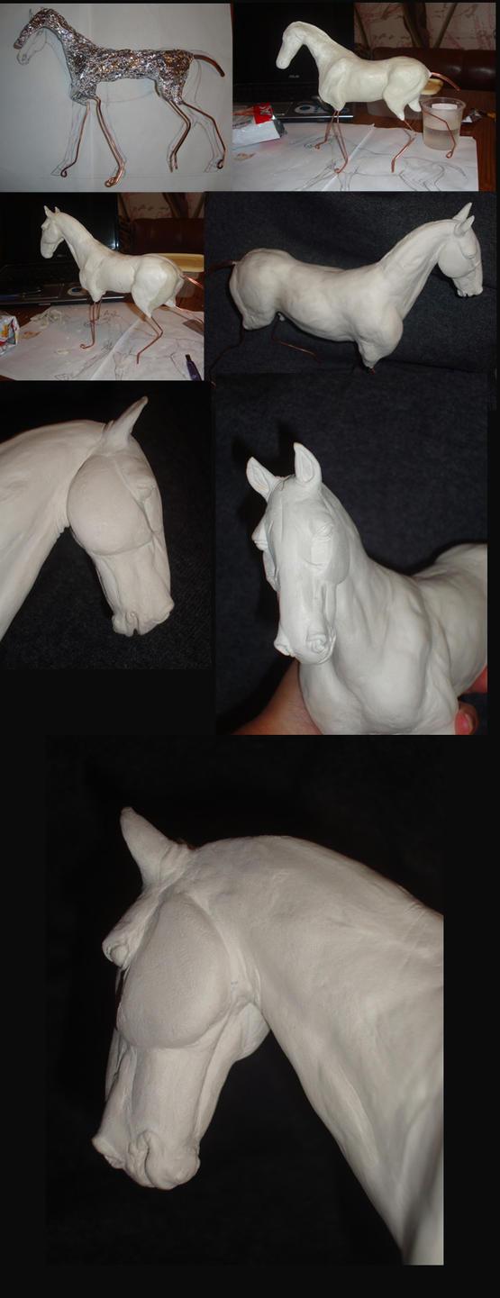 -Akhal-Teke sculpt WIP by Esa82