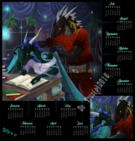 Dragon-calendar-2017 by EsaArts