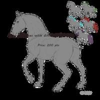 Horse lineartPackage 1 by EsaArts