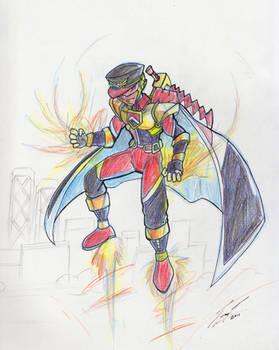 Commander Blaze - Concept Sketch