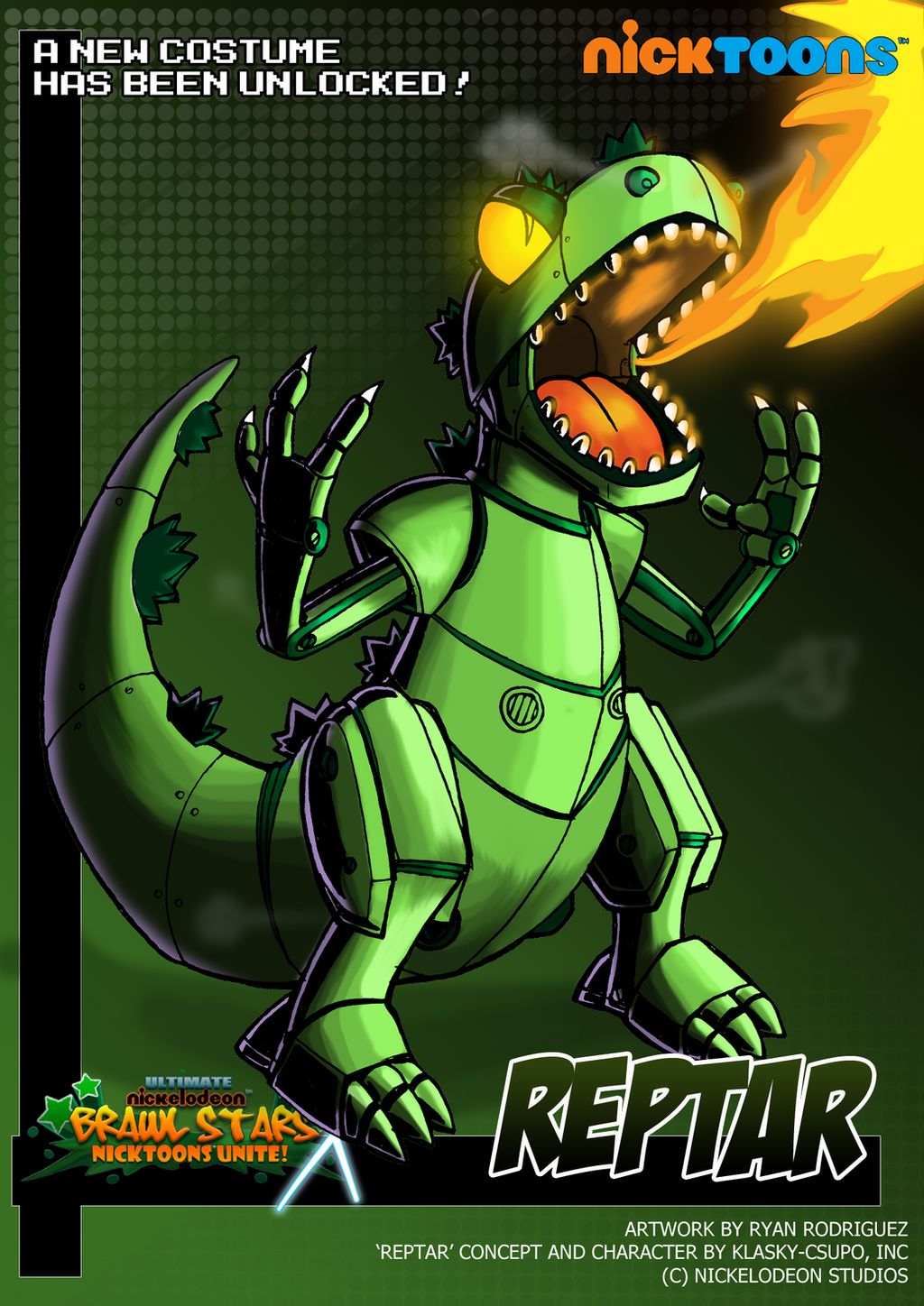 Nicktoons - Reptar (Alternate Costume) by NewEraOutlaw on ... Quailman Costume