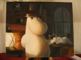 Moomin-dad oil on canvas