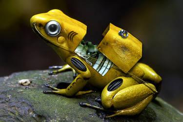 Cyber Frog by marochromix