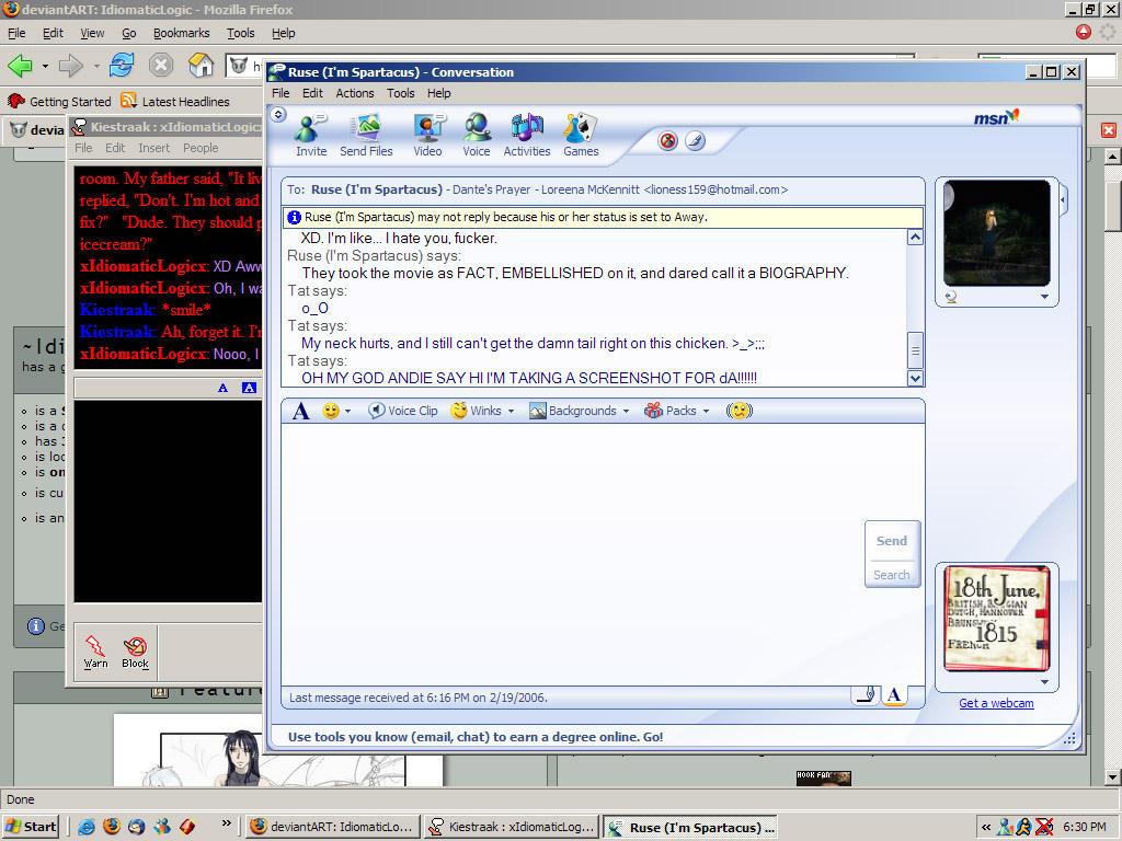 A screenshot. Joy. by IdiomaticLogic