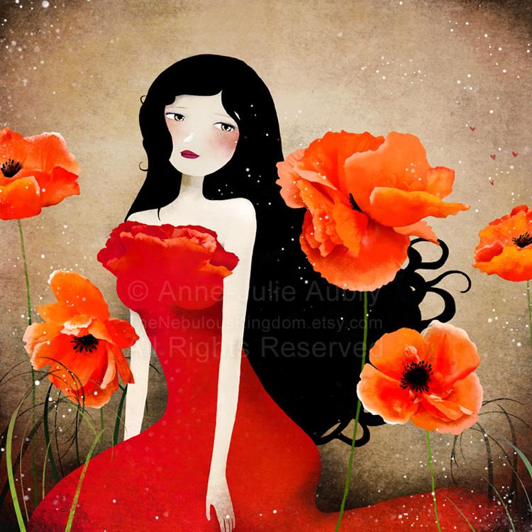 Orange Poppies by AnneJulieAubry